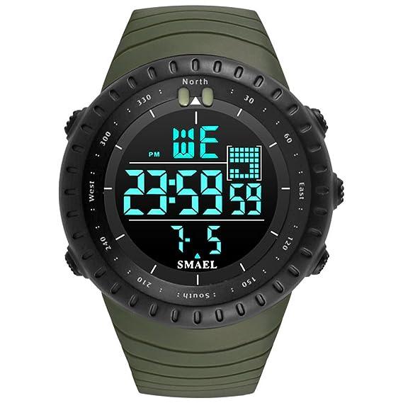 amstt Hombre Digital Reloj Teen Joven multifunción reloj deportivo hombres grande cara 50 m resistente al