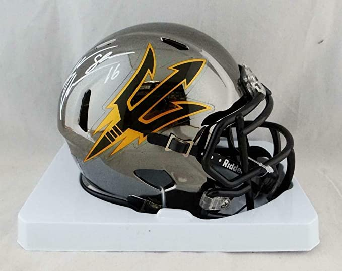 b37bd1ac Amazon.com: Autographed Jake Plummer Mini Helmet - State Chrome ...