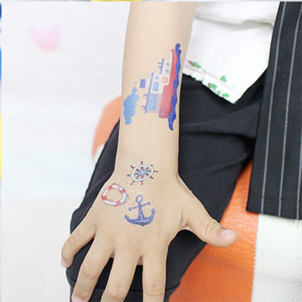 adgkitb 5piezas de Dibujos Animados Tatuaje vehículo Tatuaje ...