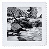 3dRose Danita Delimont - Utah - Usa, Utah. Arches NP, Snow and icicles in front of the South Window - 16x16 inch quilt square (qs_260263_6)