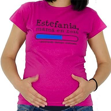 5f15f43c0 Regalo personalizable para mujeres embarazadas  camiseta  futura mamá   personalizada con su nombre y