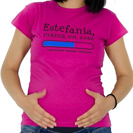Regalo personalizable para mujeres embarazadas: camiseta futura mamá personalizada con su nombre y