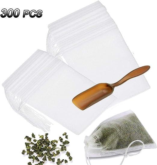 Amazon.com: Bolsas de filtro de té desechables con cuchara ...