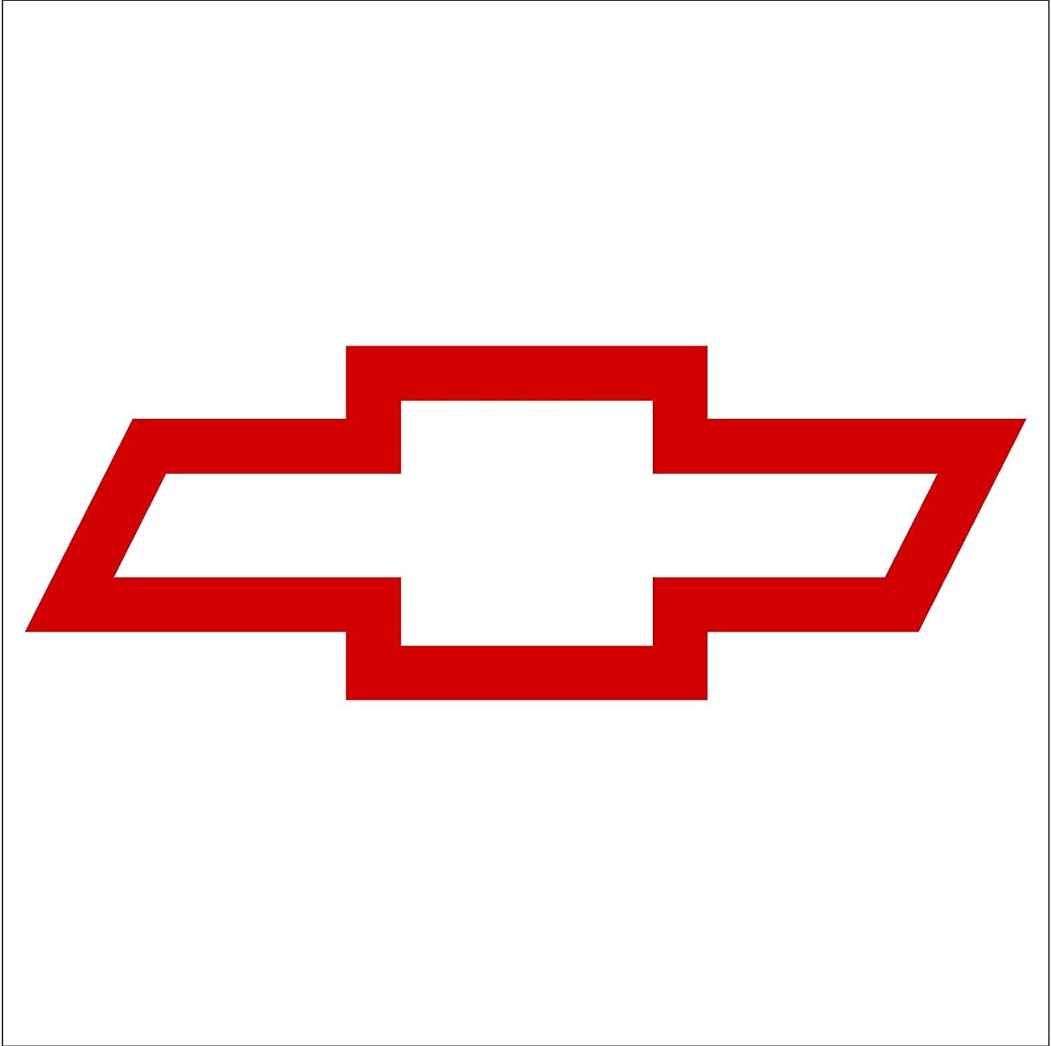 Chevy Bowtie Red Decal 6