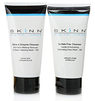 Amazon.com: SKINN Day & Night Cleanser Duo: 2 oz Oliva ...