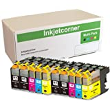 Inkjetcorner 10 Pack Compatible Ink Cartridge Replacement for LC101 LC103 BLC103 MFC-J245 MFC-J285DW MFC-J450DW MFC-J470W MFC-J650DW MFC-J870DW MFC-J475DW MFC-J875DW