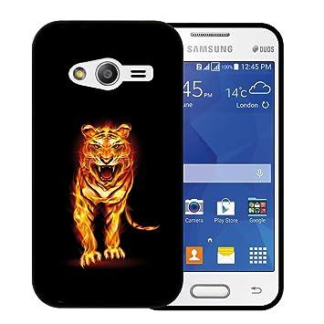 abc3be203a9 WoowCase Funda Samsung Galaxy Ace NXT, [Samsung Galaxy Ace NXT ] Funda  Silicona Gel Flexible Tigre de Fuego Abstracto, Carcasa Case TPU Silicona:  Amazon.es: ...