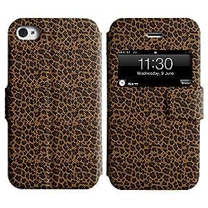 LEOCASE estampado de leopardo Funda Carcasa Cuero Tapa Case Para Apple iPhone 4 / 4S No.1005765