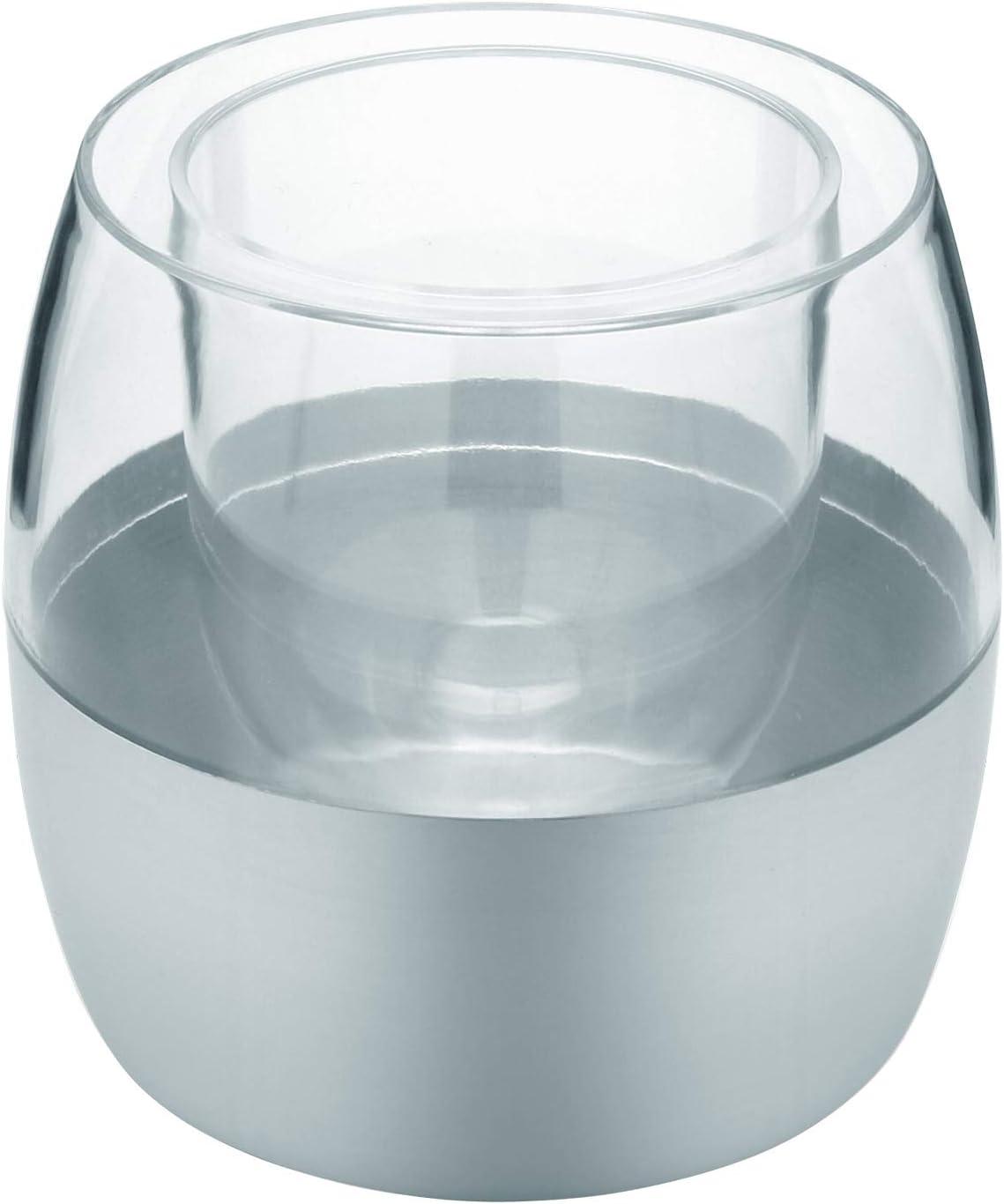 Sanwood Waterclou Brosse WC innovante en silicone sans poils avec manche en acier inoxydable et plastique Silicone Plastique Acier inoxydable bleu