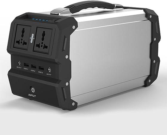 TOPQSC Generador Solar portátil con AC/DC Inverter para Camping Fuente de alimentación DC & outports USB, Cargado por el Panel Solar/Toma de ...