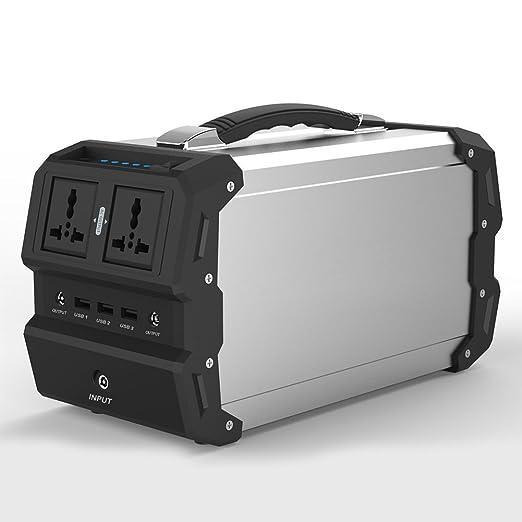 TOPQSC Generador Solar portátil con AC/DC Inverter para Camping ...