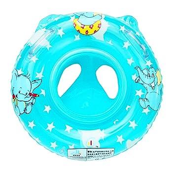 JJOnlineStore JJPRIME - Anillo hinchable de natación para bebé, niños, niñas, asiento flotante, piscina, baño, agua y asa de seguridad