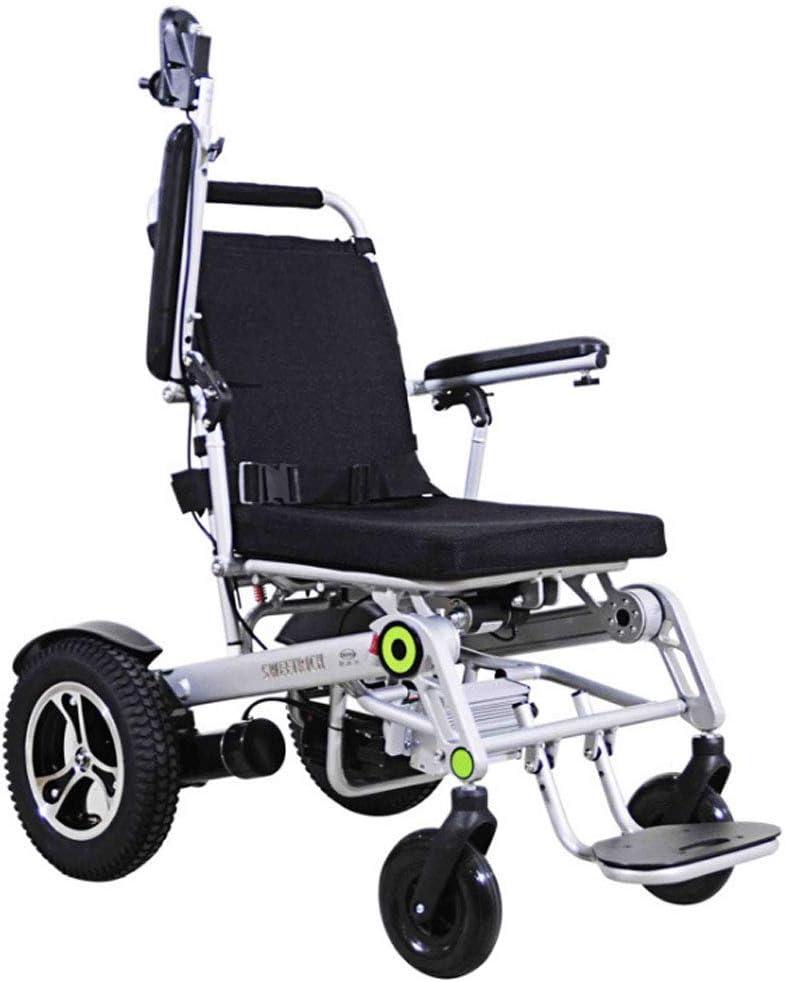 FTFTO Inicio Accesorios Ancianos Discapacitados Silla de Ruedas eléctrica Ancianos Jóvenes Scooter Eléctrico Inteligente Automático Discapacitados Silla de Ruedas Plegable