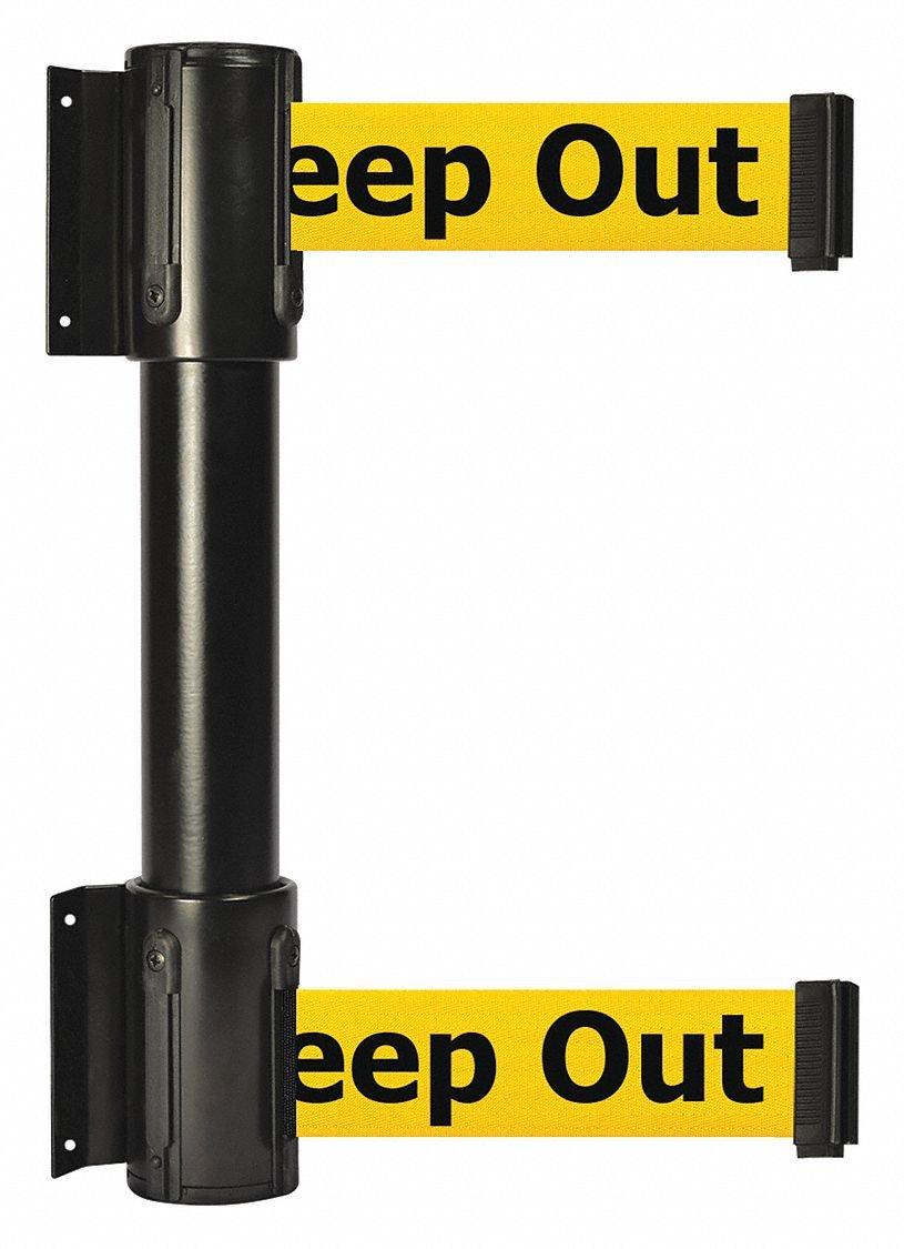 Belt Barrier,7-1/2 ft,Danger -Keep Out by TENSATOR