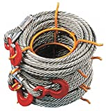 200 ft. Alloy Steel Winch Cable with 2000 lb. Working Load Limit