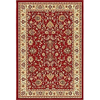 Luxury Red Silk Area Rugs For Living Room