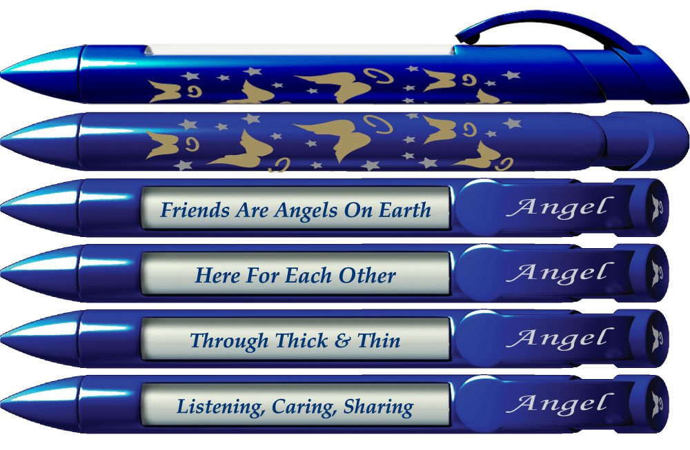 6 x Greeting Pen Angel Friend Appreciation Pens  Rotating