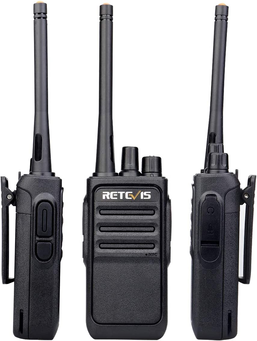 6 Pack Retevis RT17 Walkie Talkies Adults Long Range Two Way Radio Rechargeable Handsfree VOX 2 Way Radios with Earpieces Headsets Mic