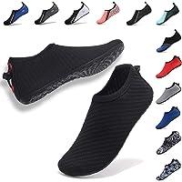 VIFUUR Womens Mens Water Sport Shoes Adjustable Aqua Socks Surf Beach Pool Shoes with Elastic