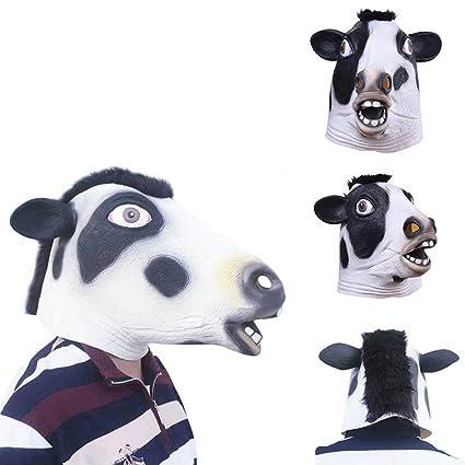 Molie – látex máscara de Halloween cosplay de disfraces vaca Animal cabeza máscara