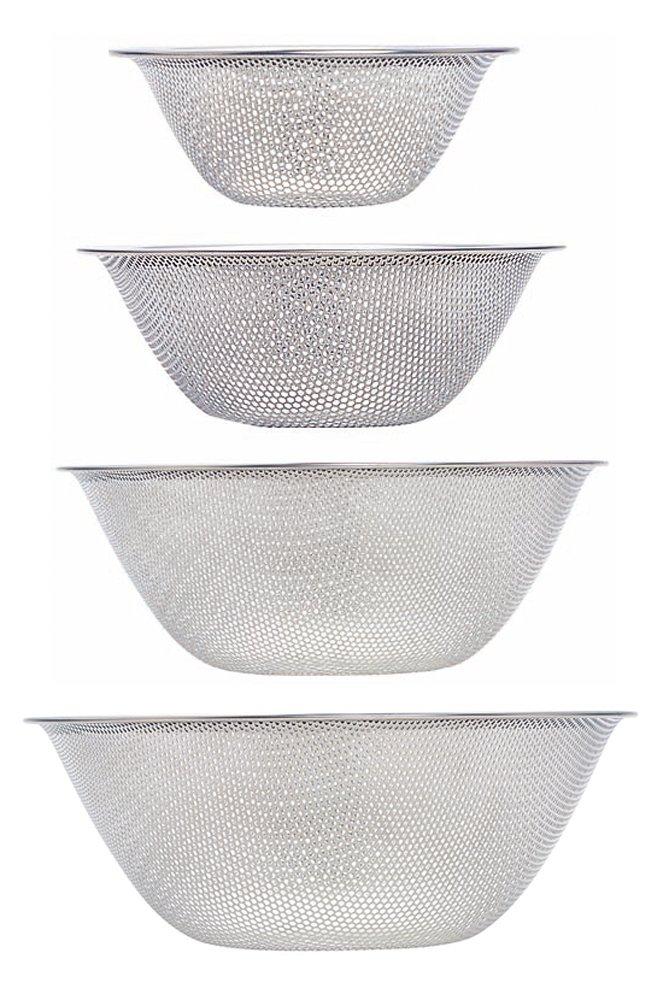Sori Yanagi Perforated strainer - 16cm ? 19cm ? 23cm ? 27cm 4pcs 316076] (Japan Import)