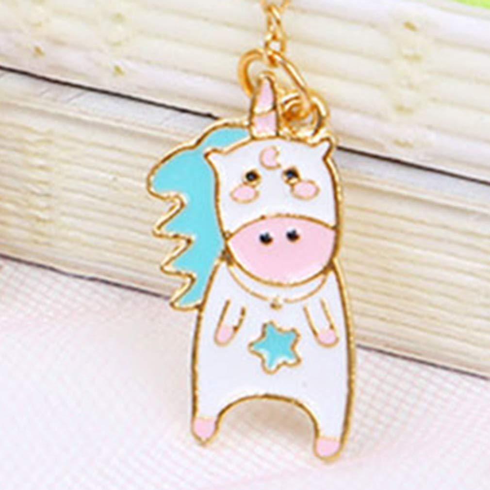 2 unidades 4 estilos Concubine unicorn Yuehuxin oficina Marcap/áginas con dise/ño de unicornio para la escuela
