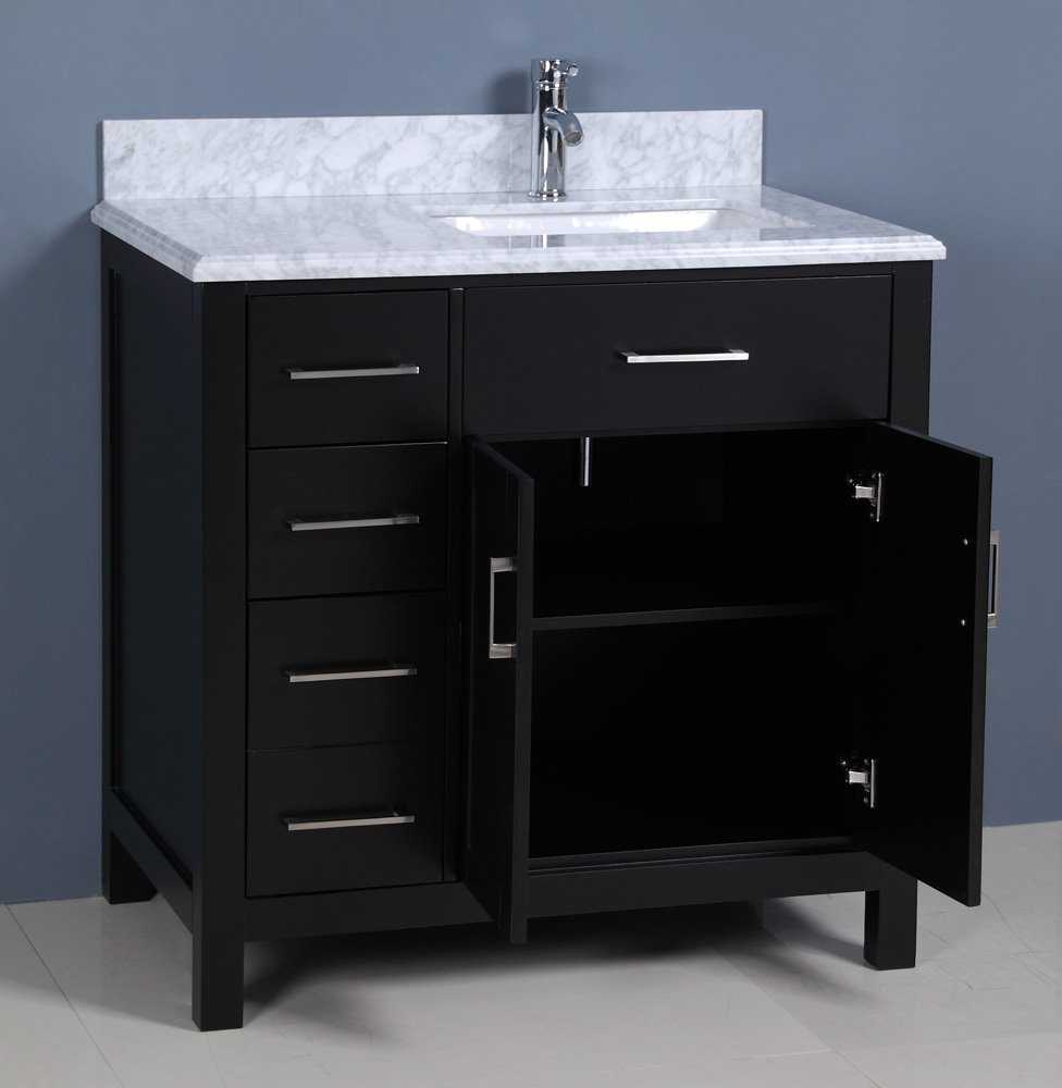 Phenomenal Golden Elite 36 Carrera Bathroom Vanity Espresso Interior Design Ideas Pimpapslepicentreinfo
