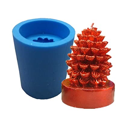 Rubber Mold Candle Mould Pine Cone Shaped DIY Candles Making Crafts Supplies
