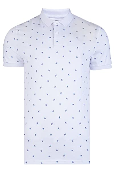 Threadbare Broken Standard Mens Pineapple Cotton Polo Shirt At