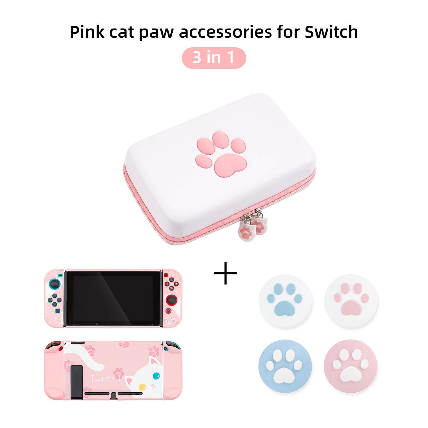 Guard Cats Switch Case Cartoon Cats Dockable Switch Body Cover Soft Feeling Hard Protective Shell