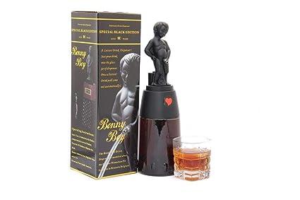 barraid brillante negro Bonny Boy forma redonda dispensador de licor capacidad 500 ml
