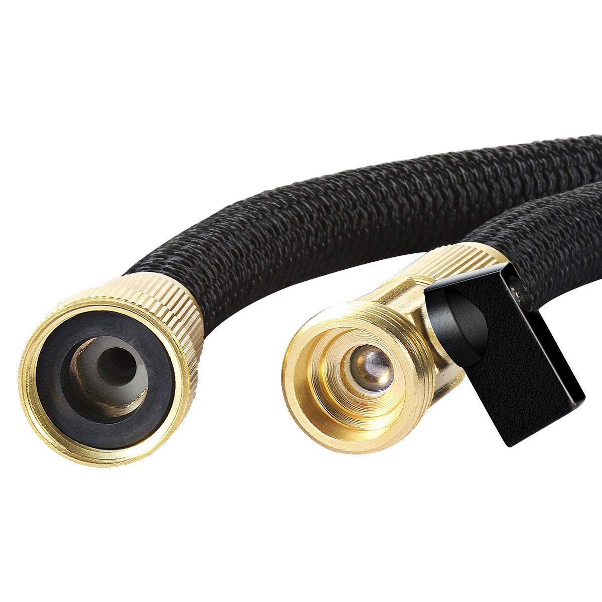 Ribool 50FT Expandable Garden Hose Pipes Strongest Double Latex Inner Tube Anti-Leaking Magic Garden Hosepipe with 9 Function Spray Gun+Solid Brass Connector Fittings Brass Valve Storage bag by Ribool (Image #3)
