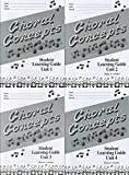 img - for Teaching Choral Concepts Student Learning Guides (1 each: units 1, 2, 3, 4) (Teaching Choral Concepts) book / textbook / text book