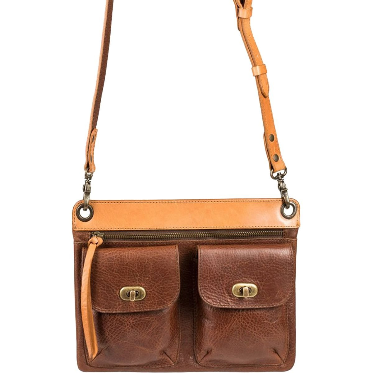Will Leather Goods Vale Crossbody Purse Tan, One Size by Will Leather Goods