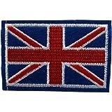 iTemer 1 Pieza de Bandera Hermosa Pegatinas de Tela Bordada Ropa Bolsa Sombrero Apliques Decorativos Bandera británica Tela Pegatinas 7.5CM*4.7CM