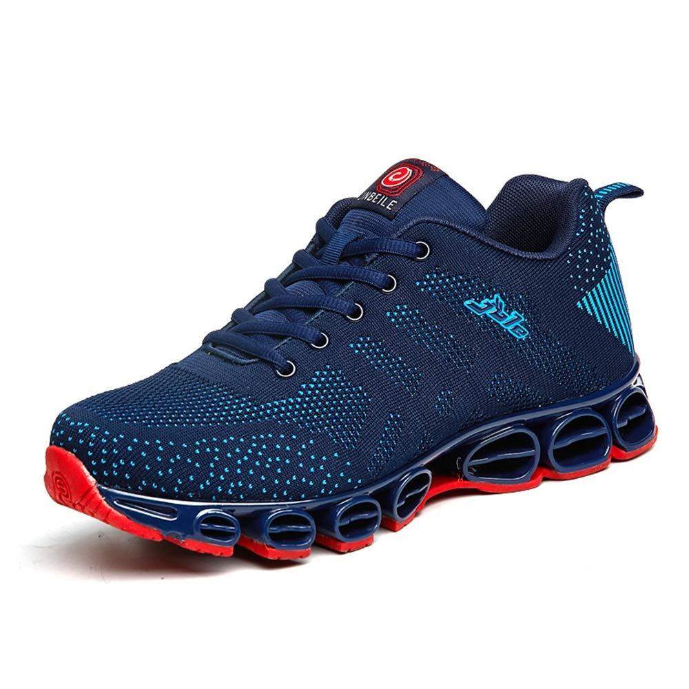 Qiusa Herren Multi Sportschuhe weiche Sohle Durable Non Slip Comfort atmungsaktive Schuhe (Farbe   Blau, Größe   EU 41)