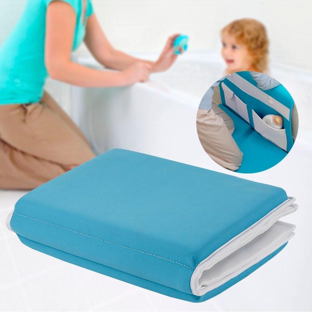 Yaheetech Safety Baby Bath Kneelerクッション簡単Kneeler withスキッド耐性ベース、折りたたみ式ストラップエルボRest andオーガナイザー、ブルー B079GQT3MM