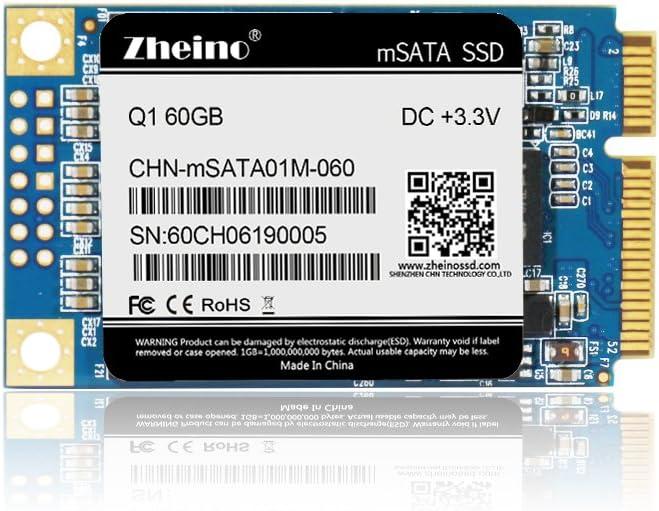 Zheino Q1 mSATA SSD de 60 GB (30 * 50 mm) Interno mSATA Memoria ...