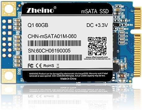Zheino Q1 mSATA SSD de 60 GB (30 * 50 mm) Interno mSATA ...