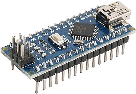 HiLetgo 5pcs Nano V3.0 ATmega328P 5V 16MHz CH340G USB Micro-controller Development Board Compatible to Arduino: Amazon.es: Juguetes y juegos