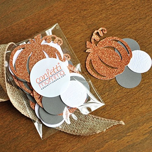 [Little Pumpkin Confetti. 50CT. Pumpkin Baby Shower. Pumpkin First Birthday Boy. Fall Baby Shower Decor. (2 packs)] (Halloween Decorations For 1st Birthday)