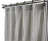 Designer Shower Curtains Shower Curtain Unique Fabric Designer Modern Black and White Striped Ticking 72 Inches