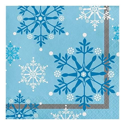- Creative Converting 317148 16 Count Paper Lunch Napkins, Snowflake Swirls