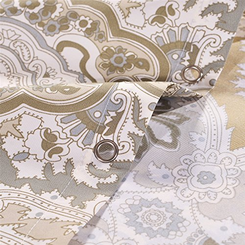 New Lanmeng Fabric Shower Curtain Classic Paisley Design
