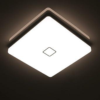 Öuesen 24W Wasserdichte LED-Lampe Decke Moderne dünne quadratische LED  Deckenleuchte 2050lm Natürliches Weiß 4000K LED Deckenlampe Badezimmer ...