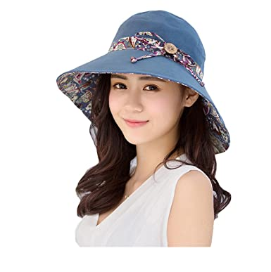 ABLE Wide Brim Cap Visor Hats UV Protection Sun Hats with Neck Cover for  Women ( b478b916d7f