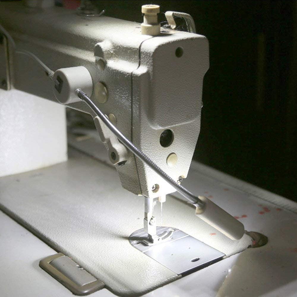 Luz LED para máquina de coser, 30 LED, multiusos, portátil, luz de trabajo flexible, con base de montaje magnética, luz brillante para máquinas de coser, lanzas, prensa de taladro, bancos de trabajo: