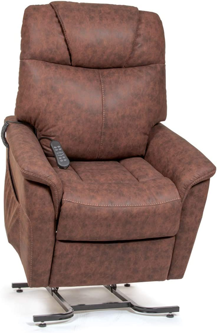 Golden Technologies The Siesta Dual Motor Lift Chair Infinite Position Recliner PR445 – Powered Headrest and Lumbar – Ash Fabric – in-Home Delivery