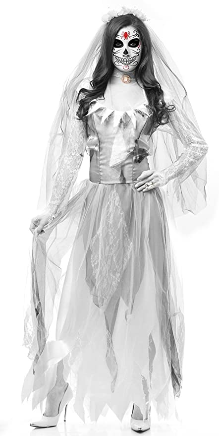 XSQR Halloween Cosplay Horror Novia Disfraz De Zombie Traje De ...
