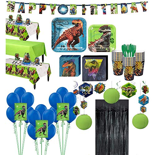 Party City Jurassic World Ultimate Party Kit and Supplies for 24 Guests, Includes Decorations and Balloons